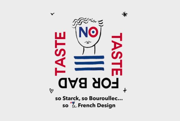 Logo no taste for bad taste salon où participe Sericyne